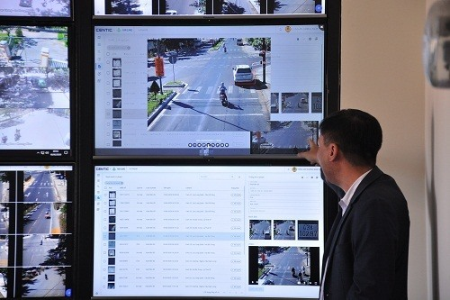 The cameras system coming into operation in Hoi An. Ảnh: ictnews
