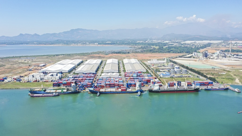 Chu Lai sea port, where the shipment is exported to Thailand. Photo: haiquanonline