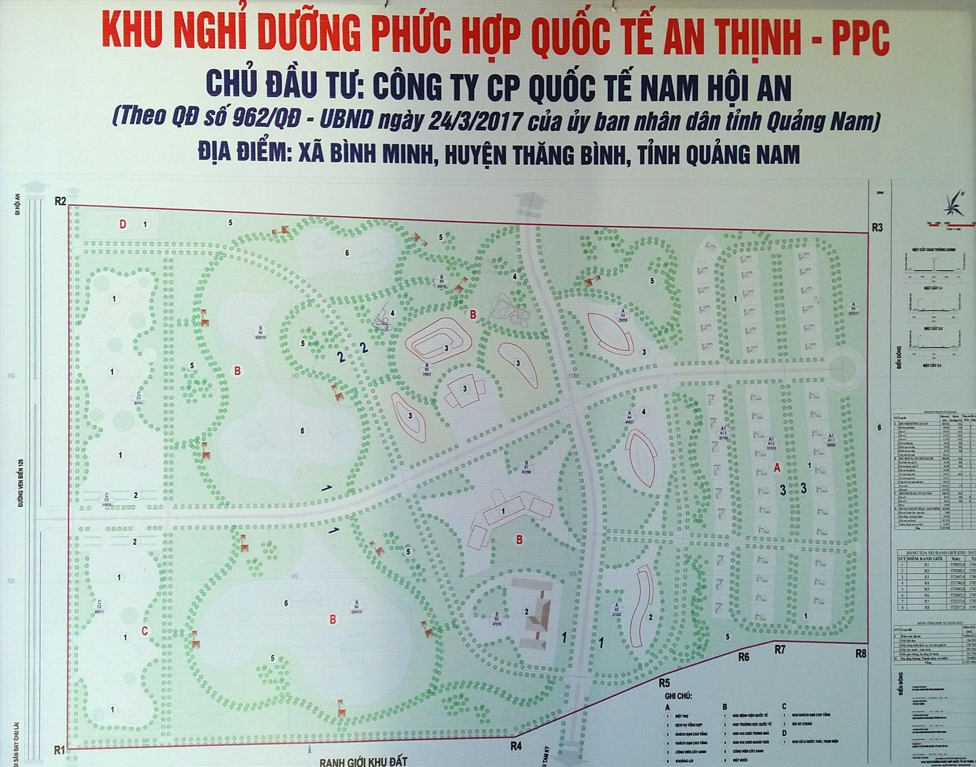 Công bố bản đồ dự án khu nghỉ dưỡng phức hợp quốc tế An Thịnh. Ảnh: T.H