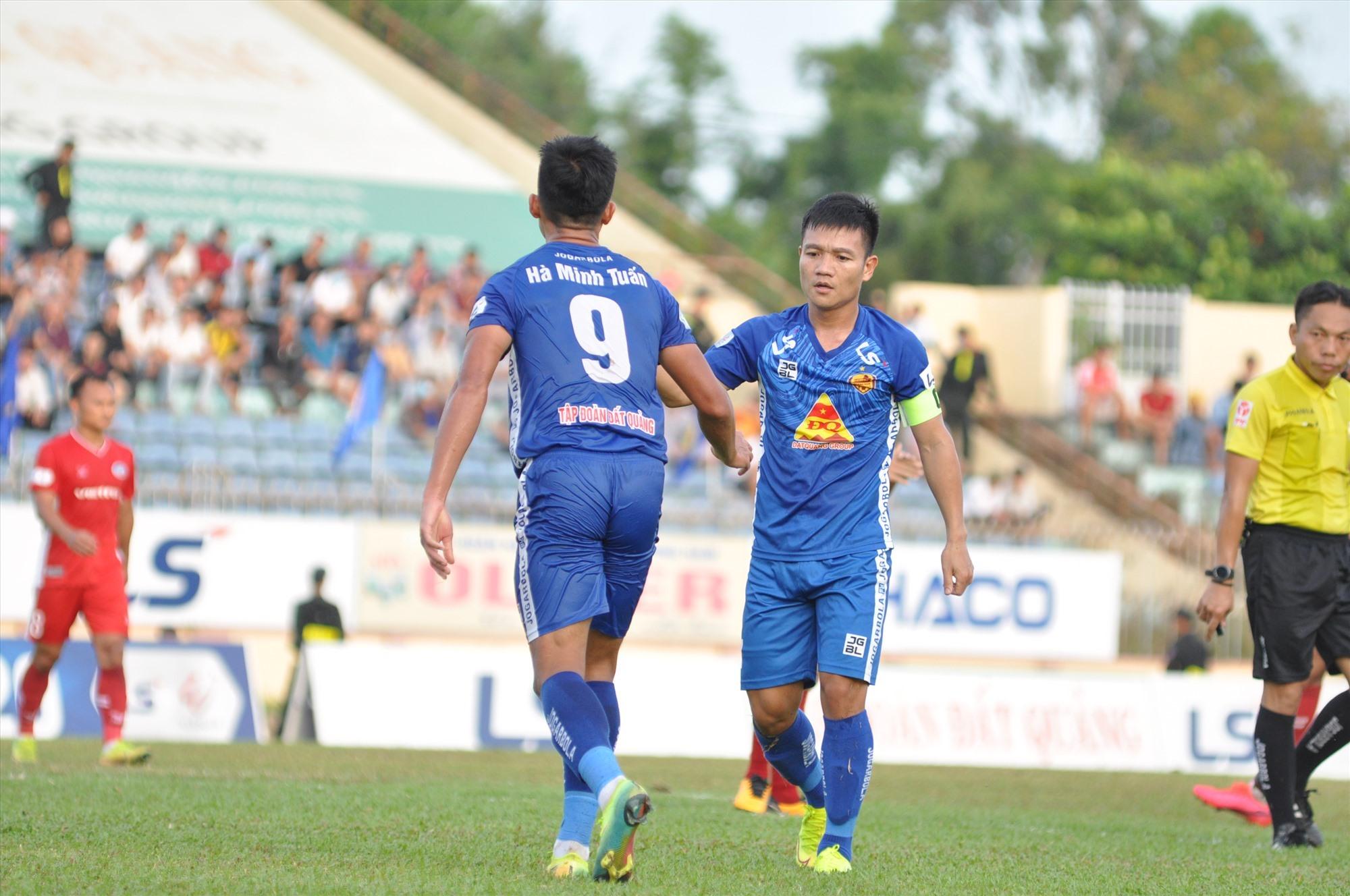Thanh Trung và Minh Tuấn từng khiến cho đội bóng phố núi ôm hận trong những mùa giải qua được kỳ vọng sẽ tỏa sáng trong cuộc tái đấu sắp tới. Ảnh: X.P