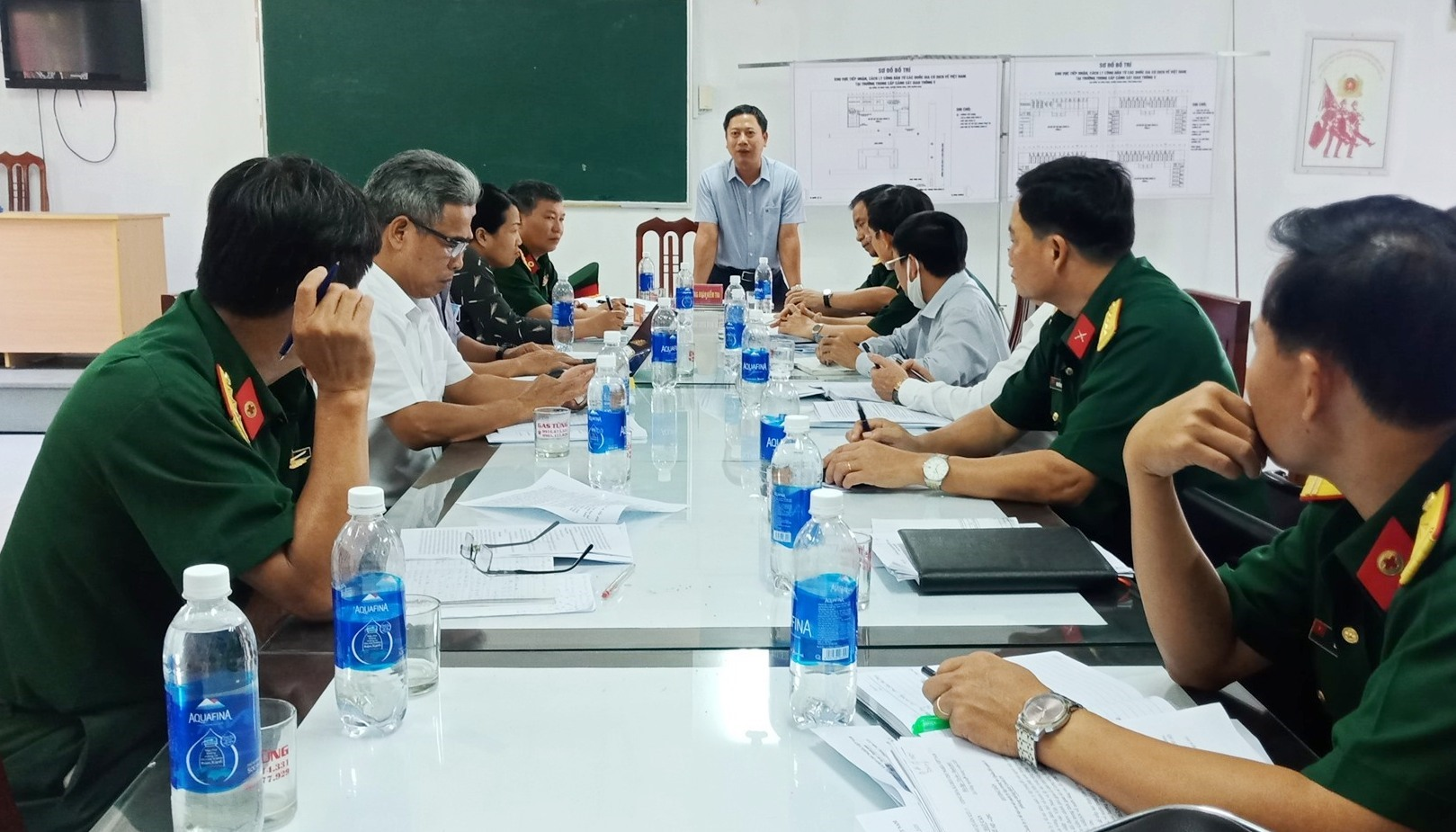 Ông Lê Xuân Huy phát biểu tại buổi làm việc. Ảnh: HOA MINH