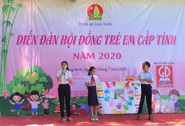 Diễn đàn Hội đồng trẻ em cấp tỉnh năm 2020