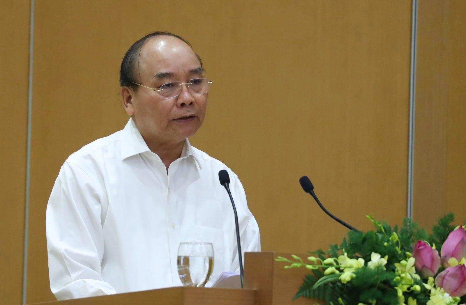 Thủ tướng Nguyễn Xuân Phúc phát biểu khai mạc Hội nghị. Ảnh: Thống Nhất/TTXVN