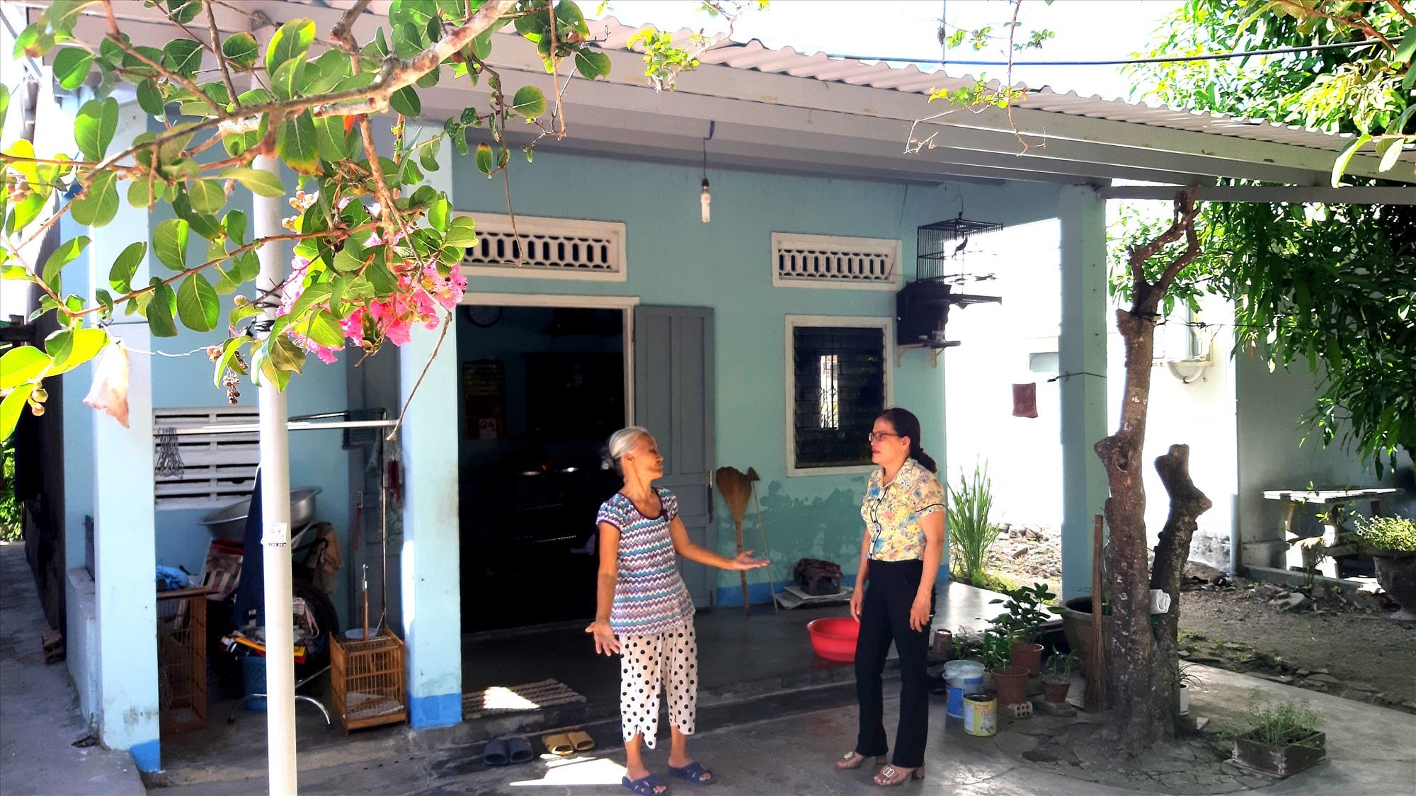 Căn nhà mới sửa chữa của gia đình bà Phạm Thị Lệ. Ảnh: VIỆT NGUYỄN