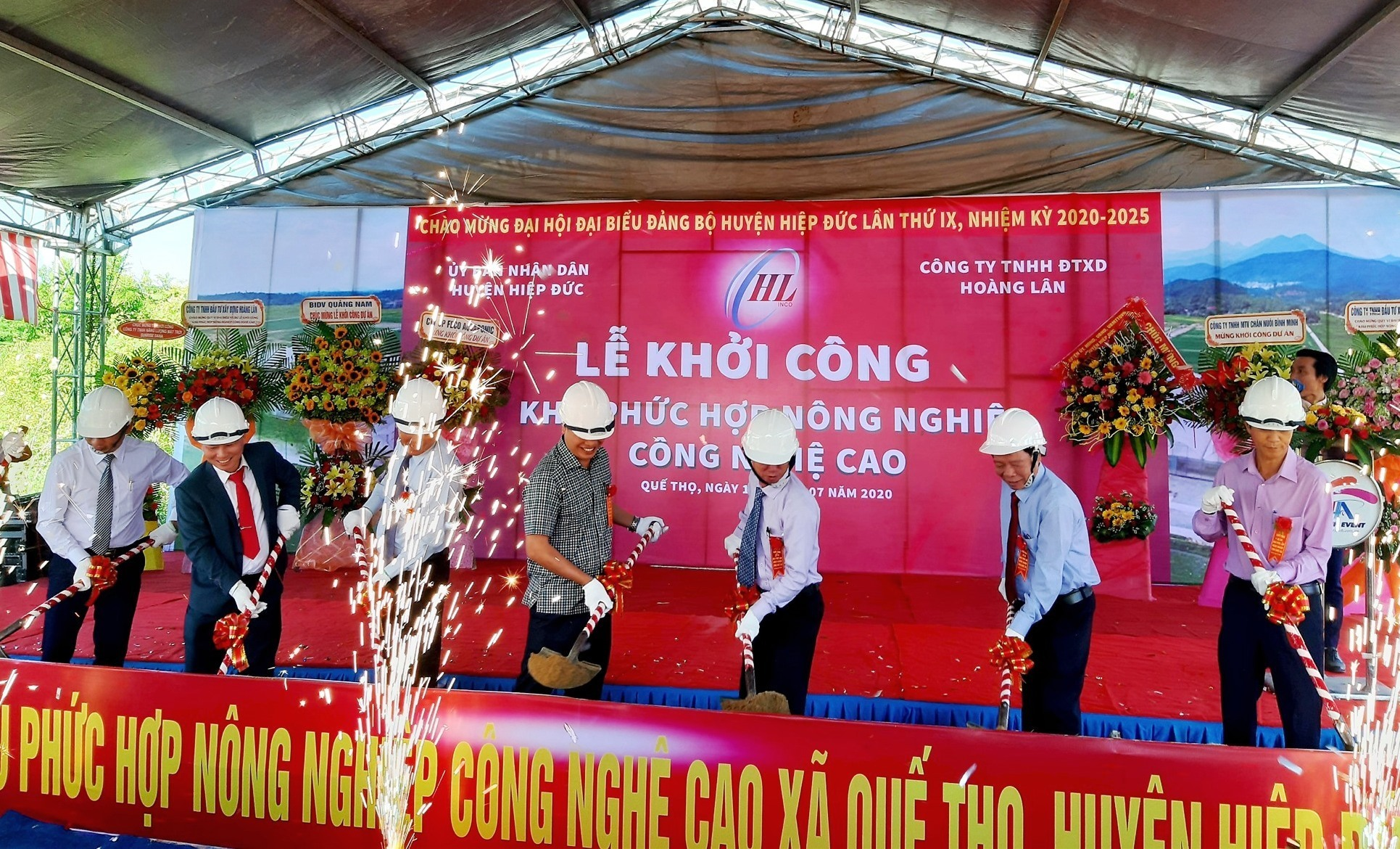 Ground-breaking ceremony of the high-tech agricultural complex in Hiep Duc district