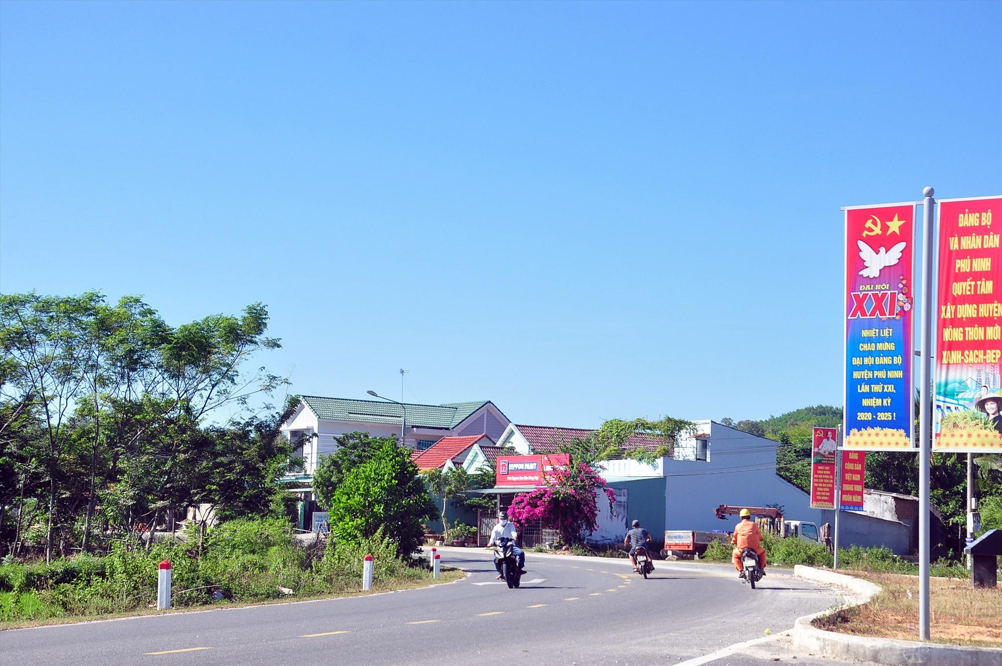 Phú Ninh phấn đấu xây dựng huyện đạt chuẩn nông thôn mới kiểu mẫu trong 5 năm đến. Ảnh: VINH ANH
