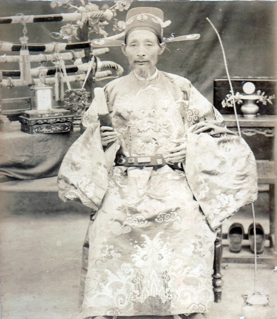 Bức chân dung Phạm Phú Thứ được chụp trong thời gian làm Tổng đốc An Hải. Ảnh: Tư liệu