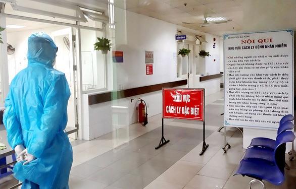 Khu vực cách ly đang chữa trị cho bệnh nhân T.V.D. tại Bệnh viện Đà Nẵng - Ảnh: TRƯỜNG TRUNG