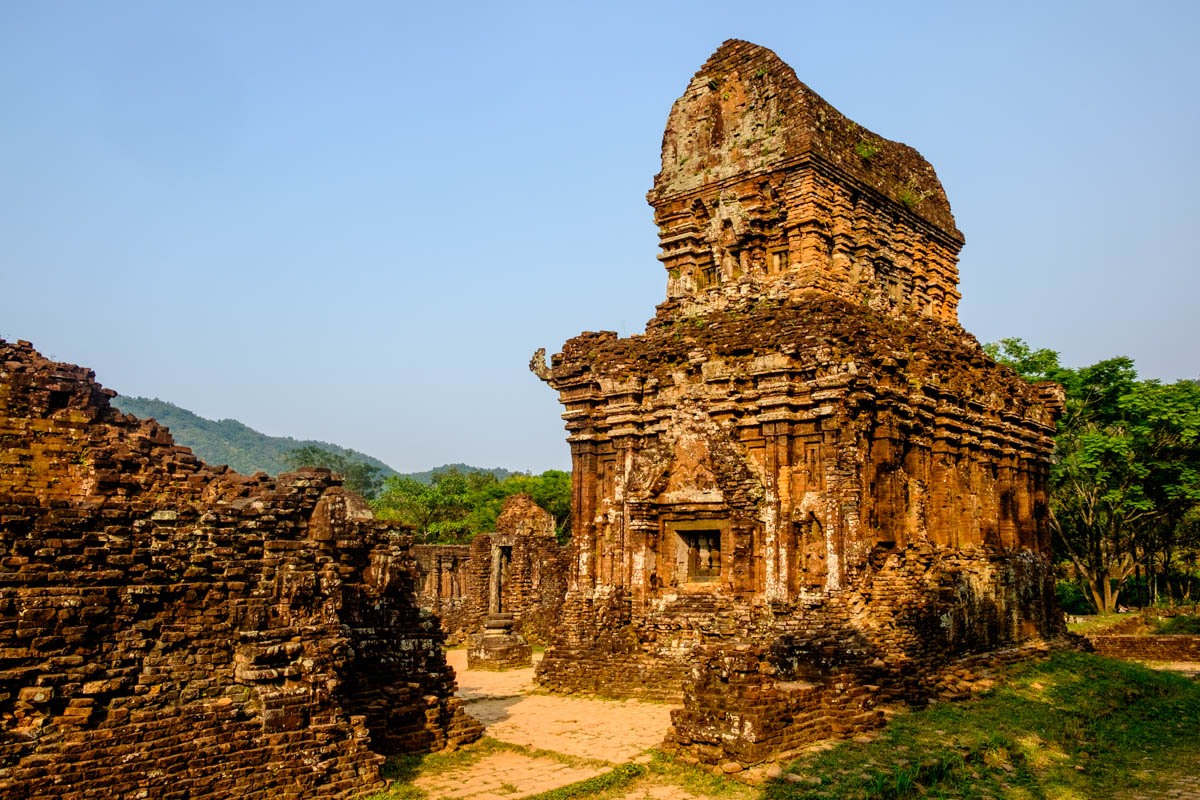 It is a complex of 70 temples built in the 4th century in Champa architectural style. Over the time, its beauty has been kept.