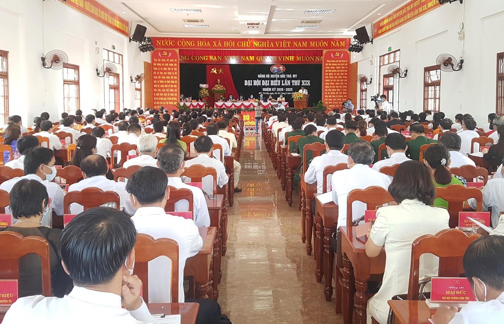Đại hội Đại biểu Đảng bộ huyện Bắc Trà My khai mạc sáng nay 30.7