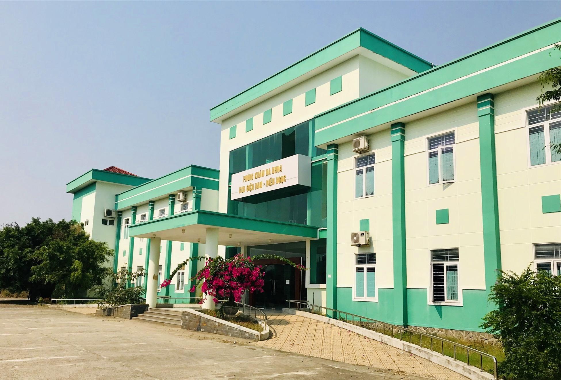 Phòng khám Đa khoa KCN Điện Nam - Điện Ngọc sẽ là trung tâm điều trị bệnh nhân Covid-19 thể nhẹ tại khu vực bắc Quảng Nam. Ảnh: Q.T