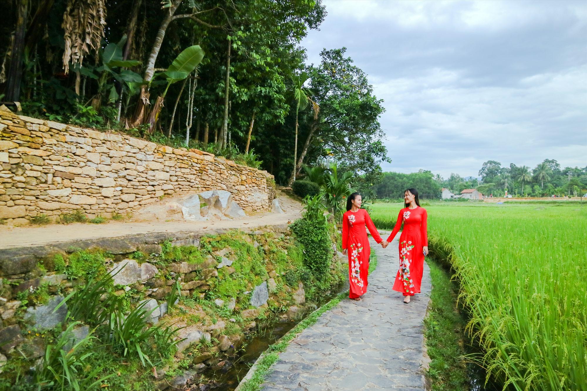 Thanh bình làng cổ Lộc Yên (Tiên Phước). Ảnh: PHƯƠNG THẢO