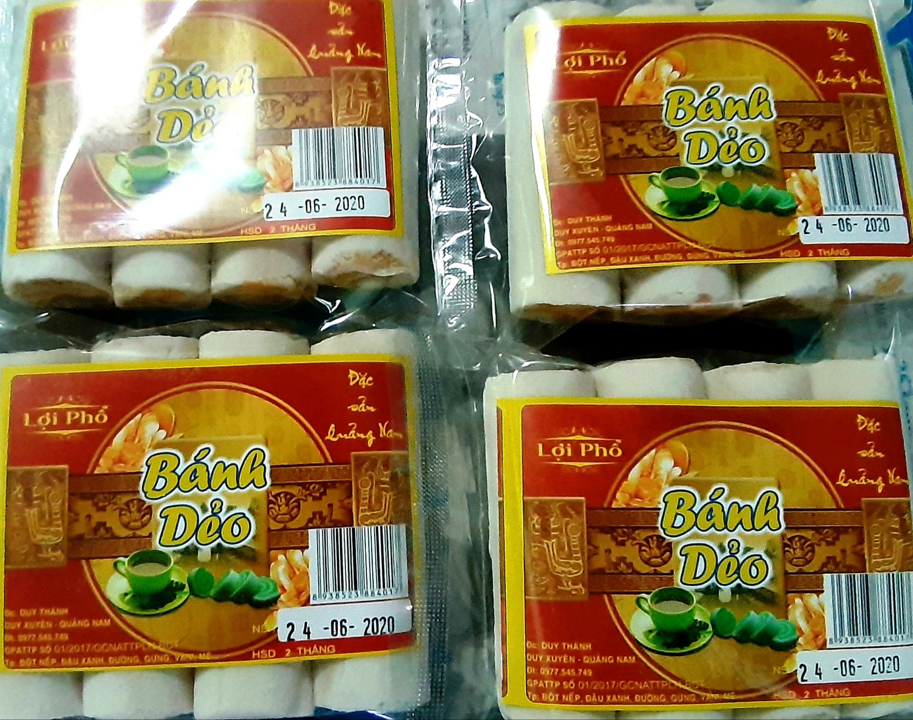 Sản phẩm bánh dẻo của cơ sở Lợi Phổ được người tiêu dùng đón nhận nhờ mang hương vị rất riêng. Ảnh: H.N