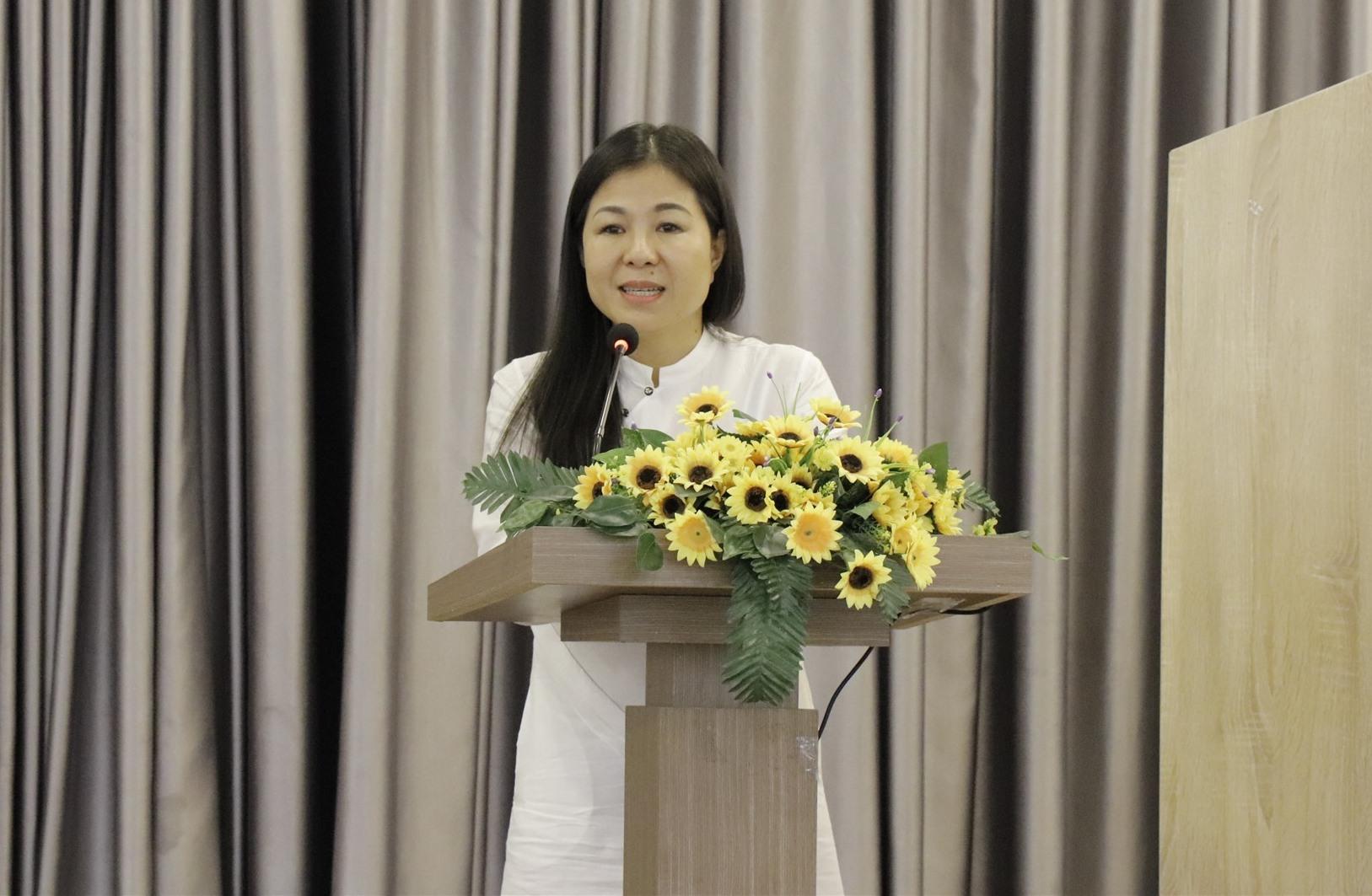 Bà Lê Thị Nam Phương -Chủ tịch HĐQT, Tổng giám đốc Công CP Đầu tư L.I.F.E phát biểu tại Hội thảo. Ảnh NTB
