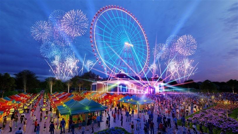 Dự kiến đến cuối năm 2020 Công viên Châu Á sẽ hoàn thiện một đài nhạc nước hoành tráng nhất Đà Nẵng và sẽ là địa điểm tổ chức Lễ hội Pháo hoa Quốc tế Đà Nẵng -DIFF 2021. Ảnh NTB