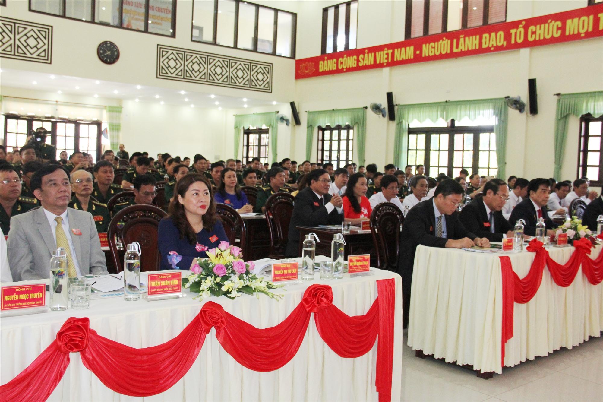 Các đại biểu tham dự Đại hội đại biểu Bộ đội Biên phòng tỉnh lần thứ XIV, nhiệm kỳ 2020 - 2025. Ảnh: A.N