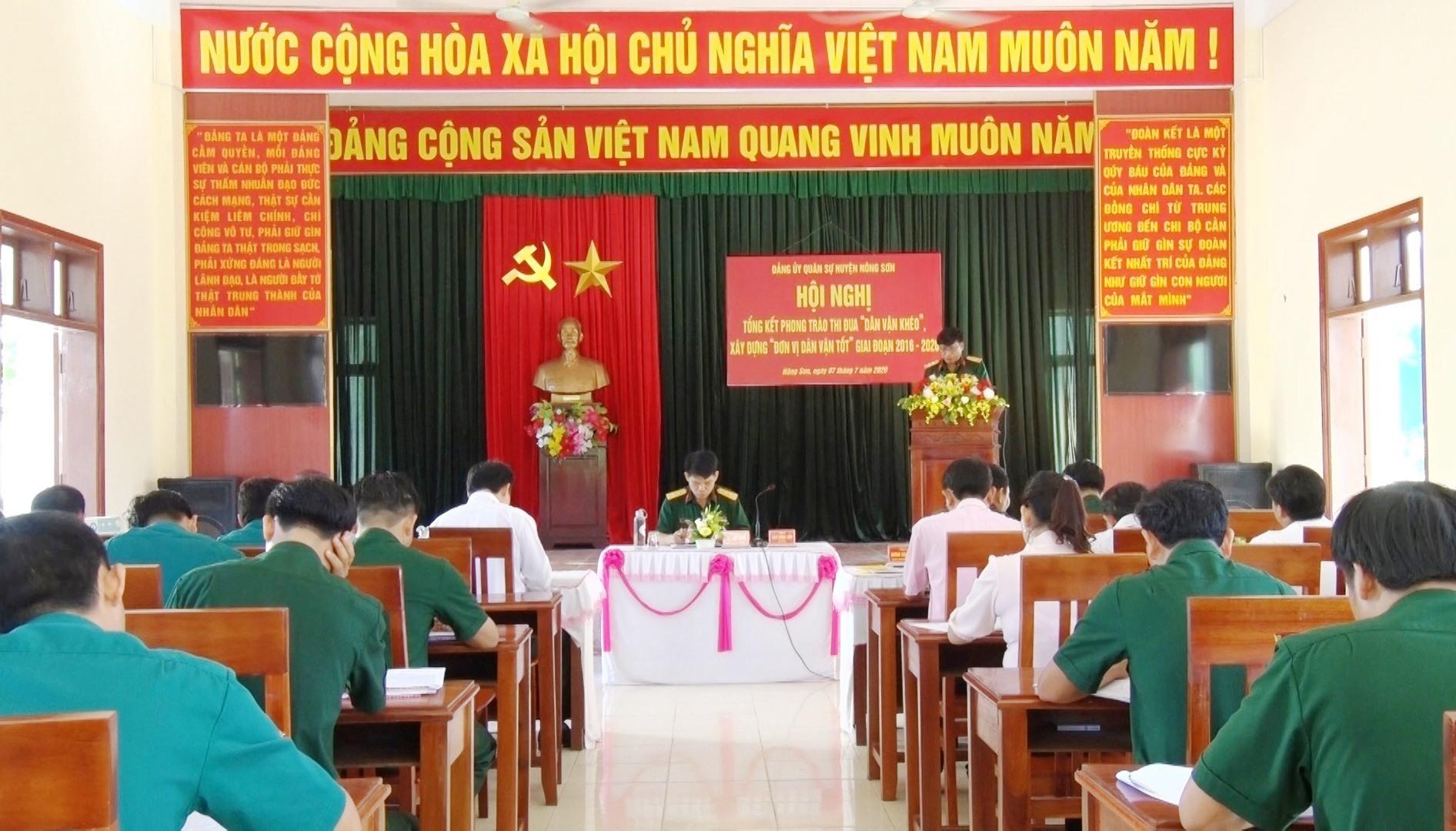 """Hội nghị đánh giá kết quả triển khai phong trào """"Dân vận khéo"""" ở Nông Sơn. Ảnh: THU PHƯƠNG"""