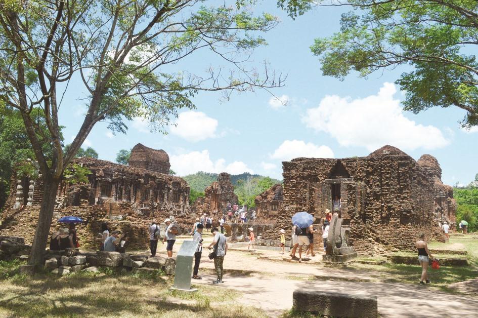 Khu đền tháp Mỹ Sơn. Ảnh: V.L