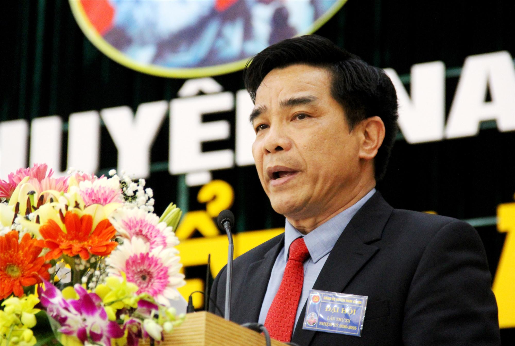 Phó Bí thư Thường trực Tỉnh ủy Lê Văn Dũng phát biểu chỉ đạo đại hội. Ảnh: A.N