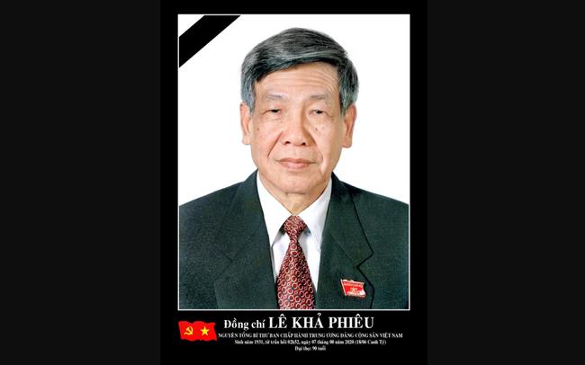 Đồng chí Lê Khả Phiêu, nguyên Tổng Bí thư Ban Chấp hành Trung ương Đảng Cộng sản Việt Nam (Ảnh: VGP)