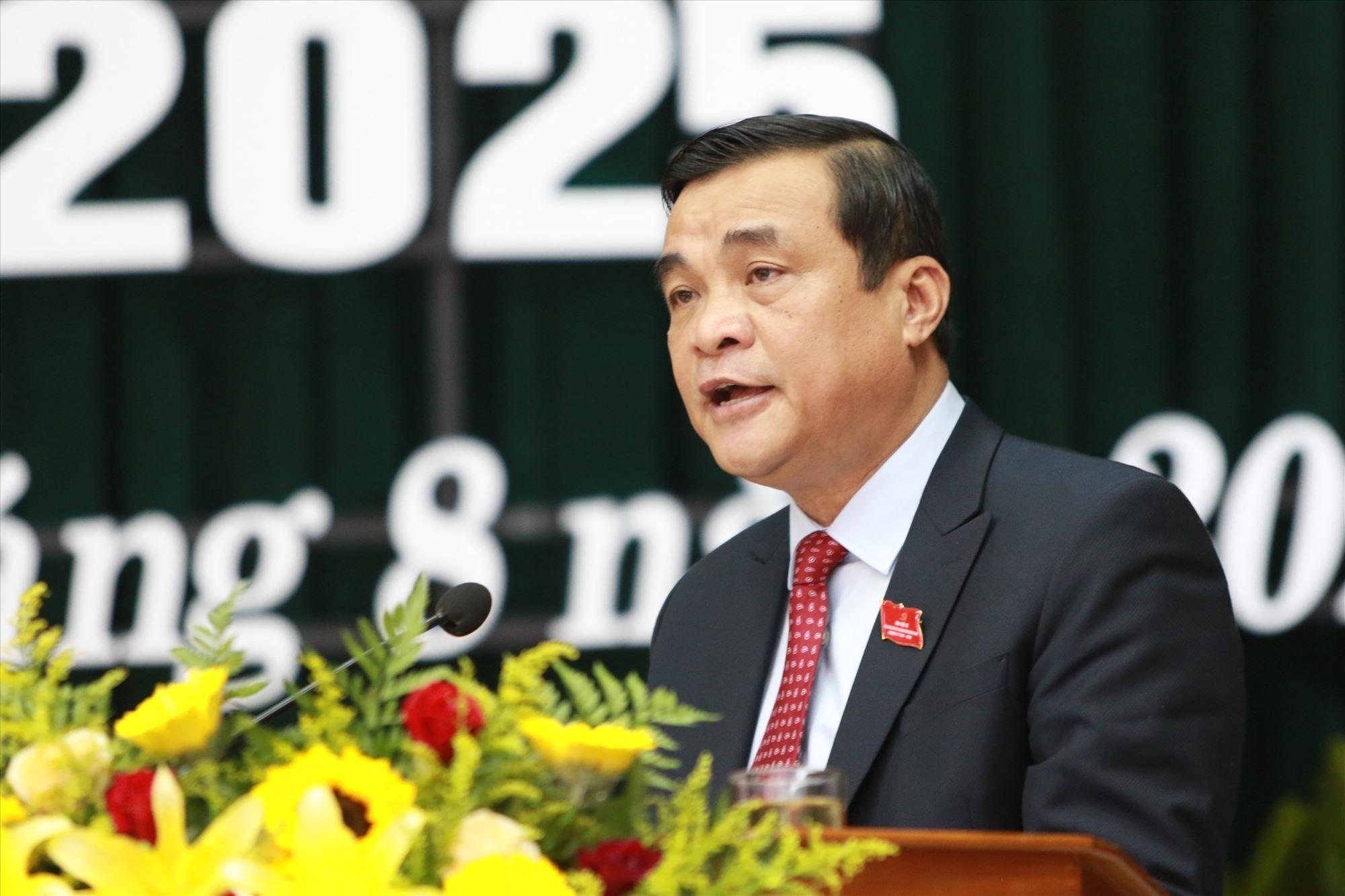 Bí thư Tỉnh ủy Phan Việt Cường phát biểu chỉ đạo tại đại hội. Ảnh: Đ.C