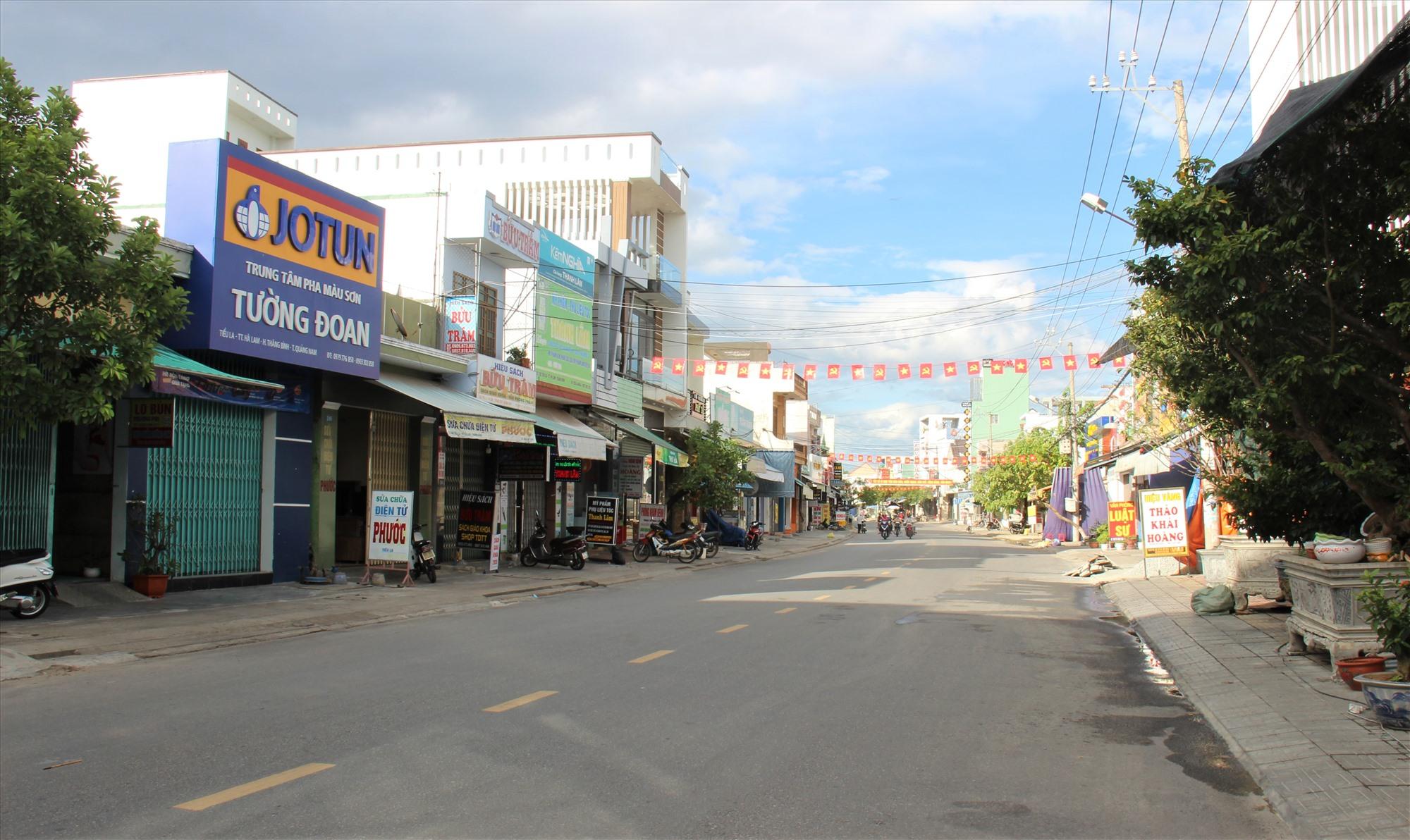 Tuyến đường Tiểu La (thị trấn Hà Lam, Thăng Bình) ít người qua lại. Ảnh: THANH THẮNG