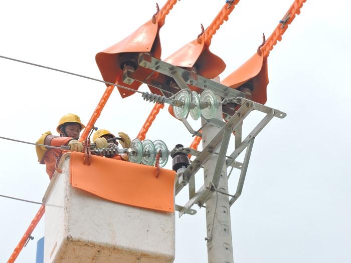 Áp dụng công nghệ đấu nối điện nóng giảm thời gian mất điện của khách hàng. Ảnh: Đ.H