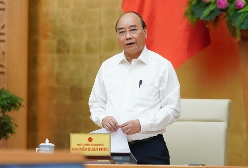 Prime Minister Nguyen Xuan Phuc at the meeting.Photo: VGP