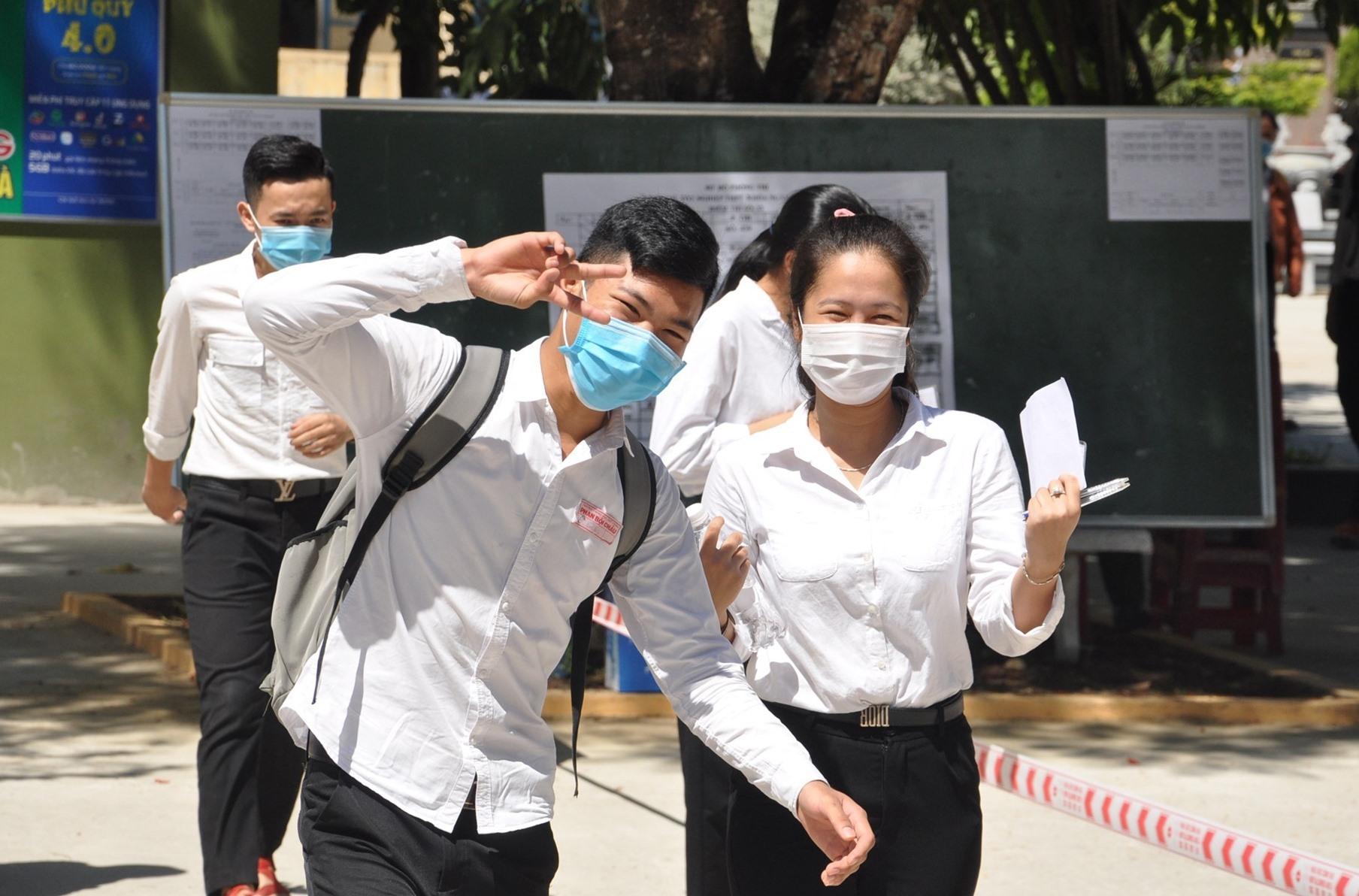 Thí sinh ở Quảng Nam tham dự kỳ thi THPT năm 2020 đợt 1. Ảnh: X.P