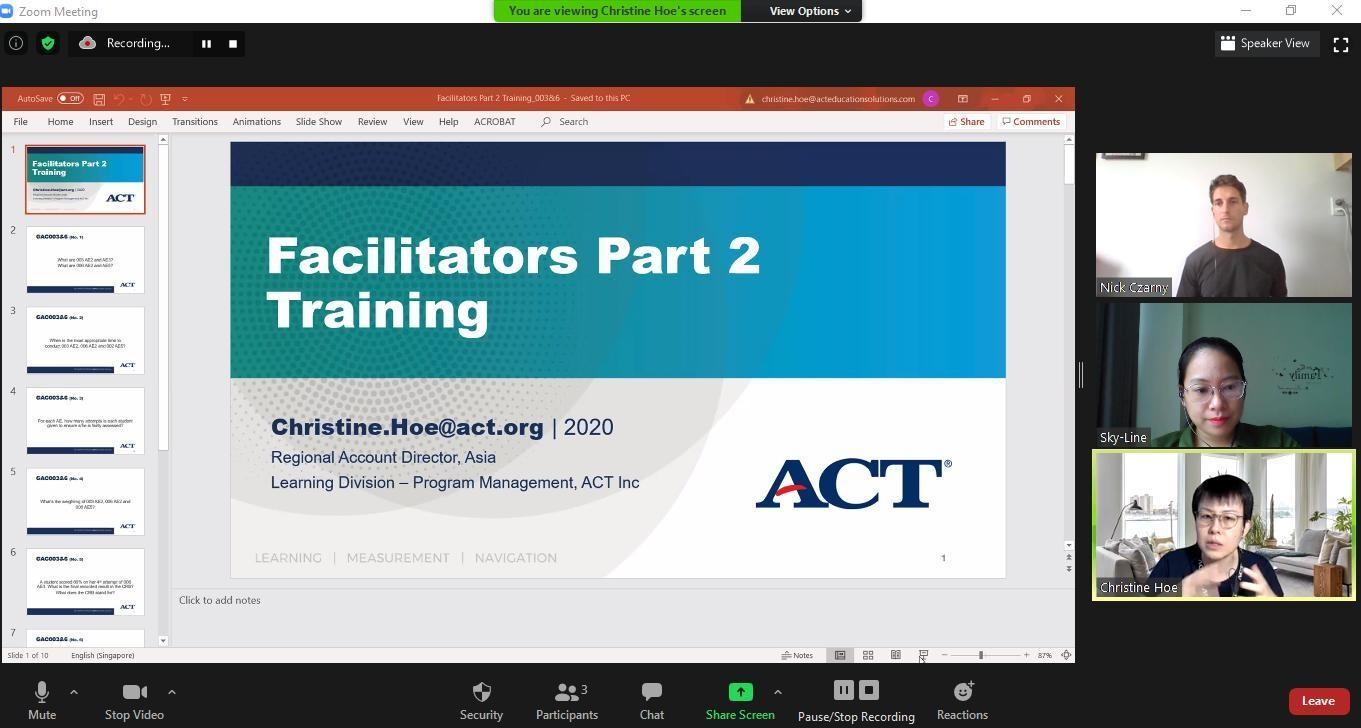 Giáo viên Sky-Line tham gia tập huấn chương trình Dự bị Đại học GAC với sự hỗ trợ của chuyên gia đến từ tổ chức giáo dục ACT - Mỹ. Ảnh: Sky-Line cung cấp