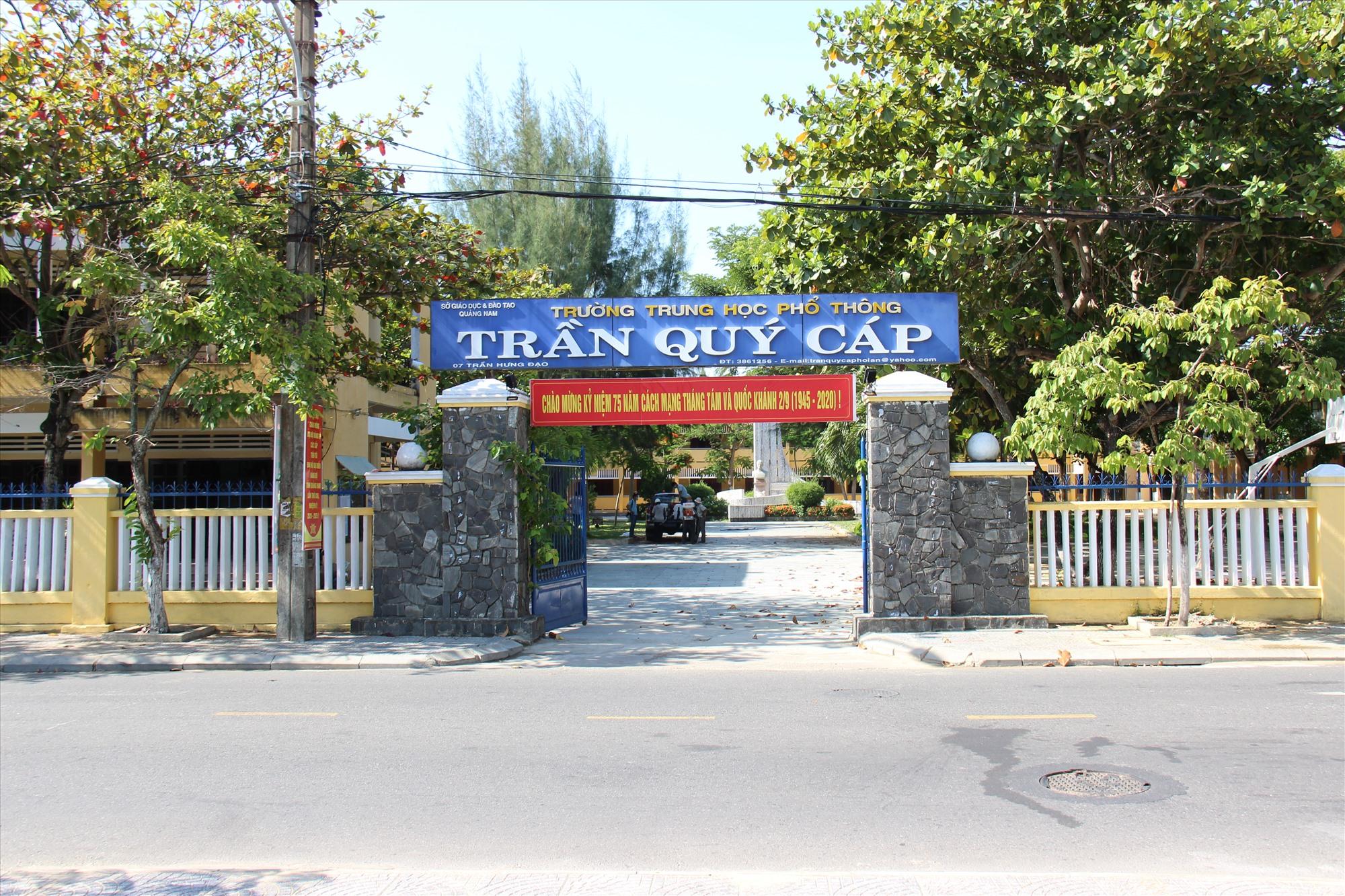 Trường THPT Trần Quý Cáp, TP.Hội An. Ảnh: HOÀI AN