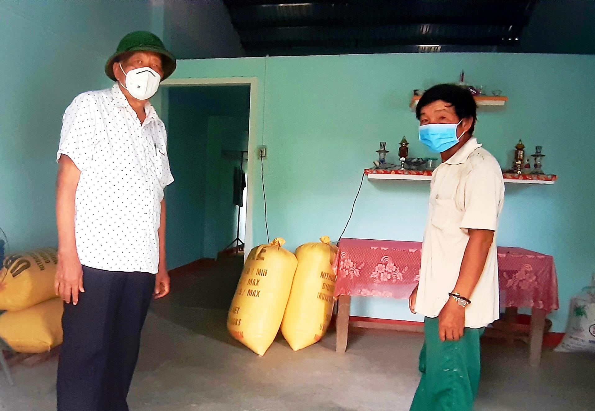 Ngôi nhà của bà Nguyễn Thị Hỷ do ông Mai Năm hỗ trợ xây dựng.
