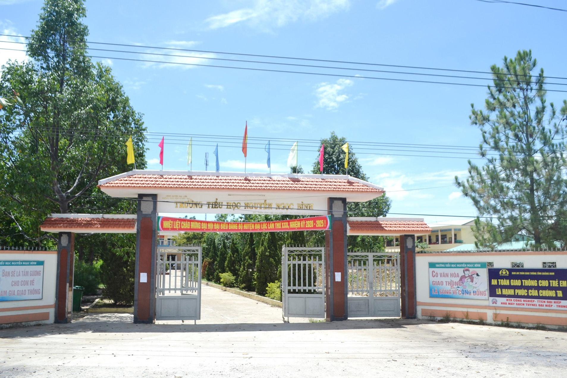 Đại Lộc thành lập khu cách ly số 4 tại Trường Tiểu học Nguyễn Ngọc Bình. Ảnh: KHẢI KHIÊM