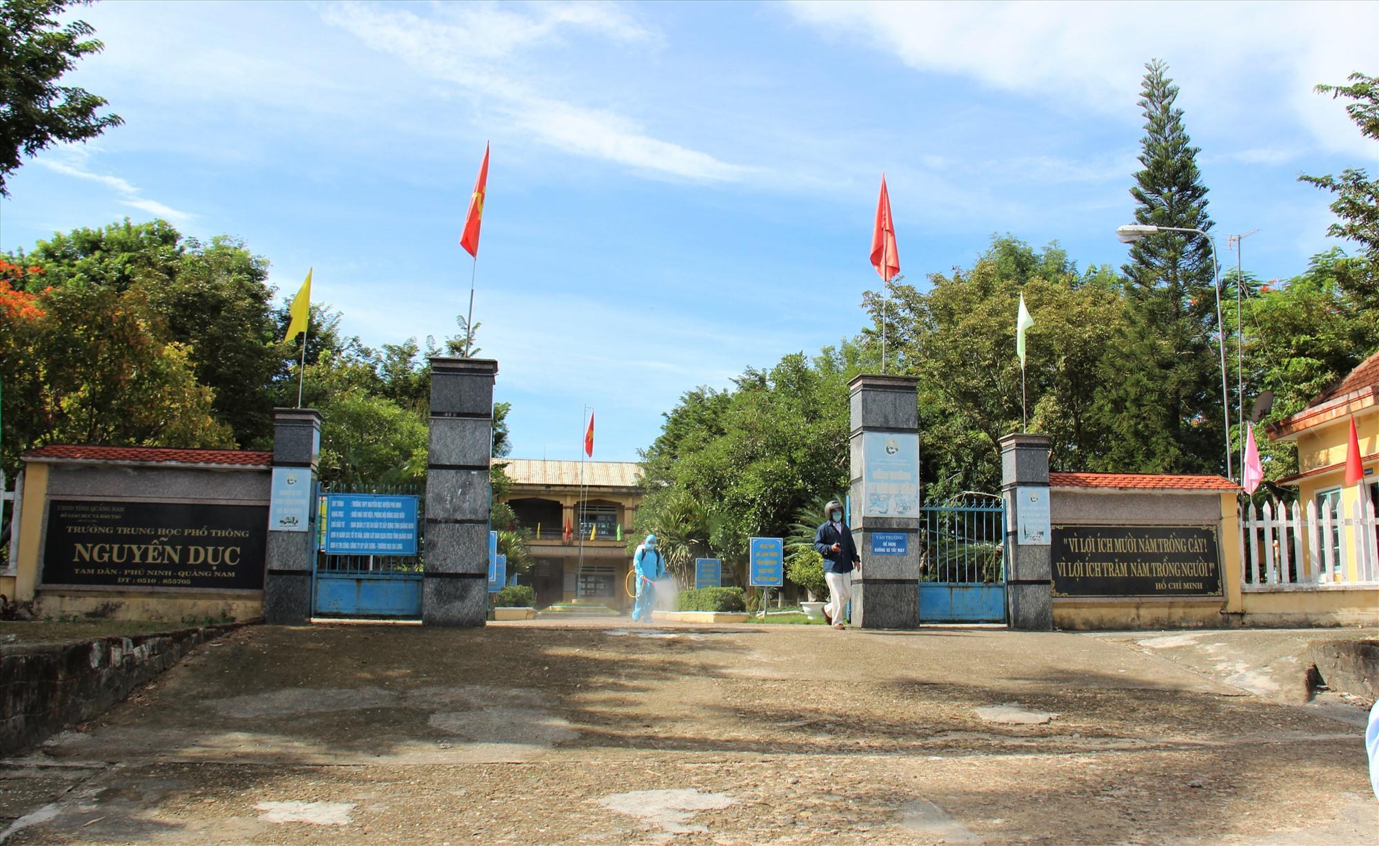 Trường THPT Nguyễn Dục. Ảnh: THANH THẮNG
