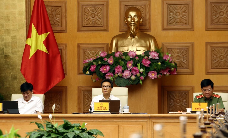 Deputy Prime Minister Vu Duc Dam at the meeting (Photo: chinhphu.vn)