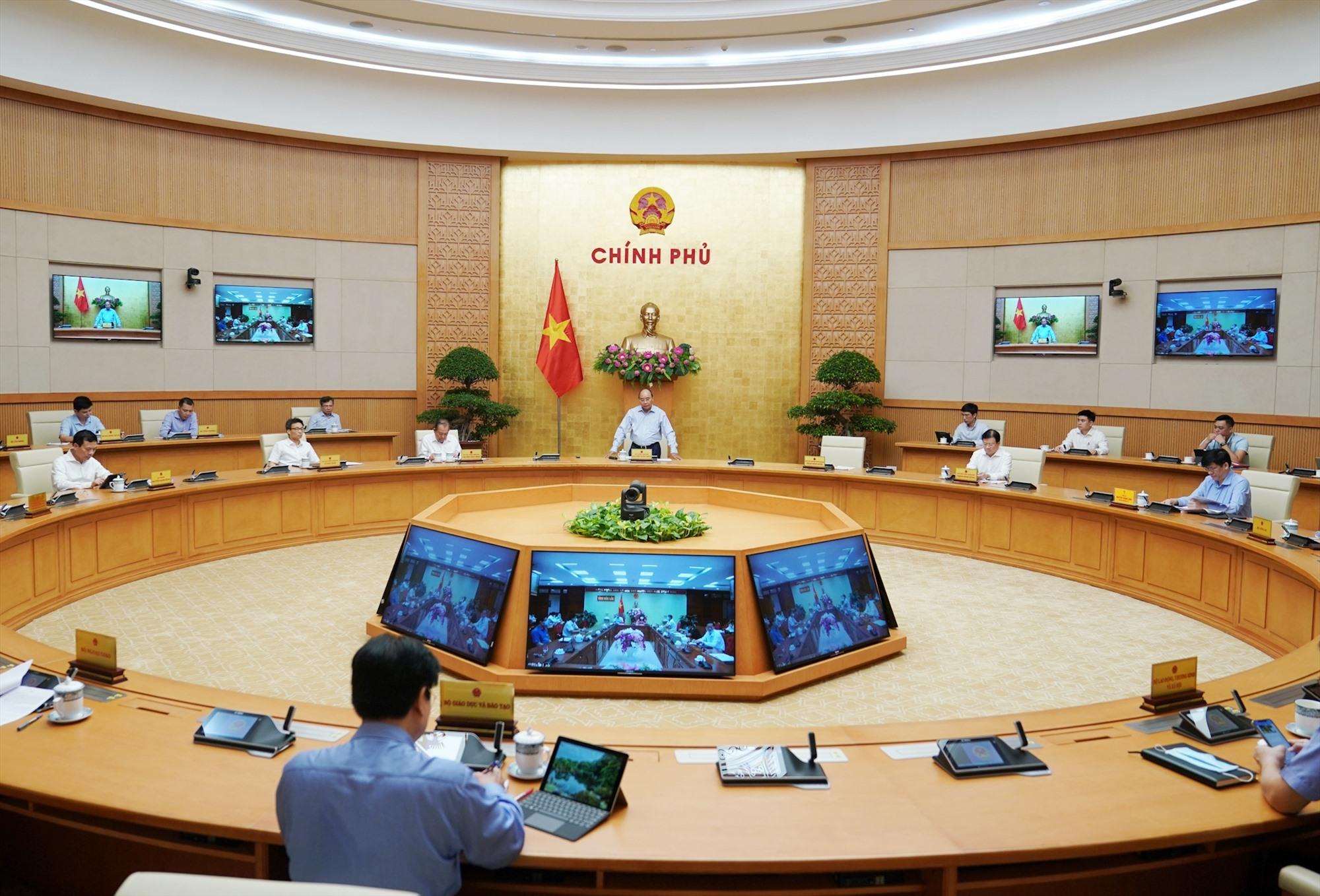 Quang cảnh cuộc họp. Ảnh: chinhphu.vn