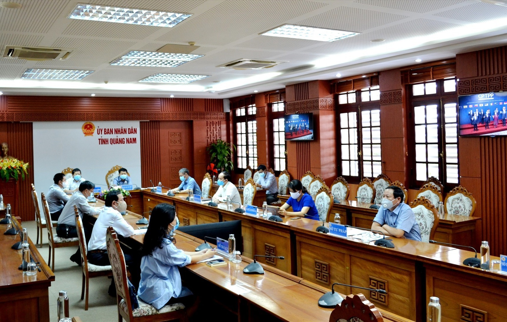 Quang Nam takes part in the online conference on the EVFTA chaired by PM Phuc.