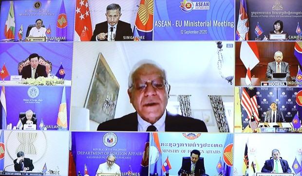 At the ASEAN-EU Ministerial Meeting (Photo: VNA)
