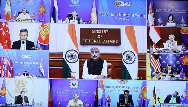Participants at the ASEAN-India Ministerial Meeting (Photo: VNA)