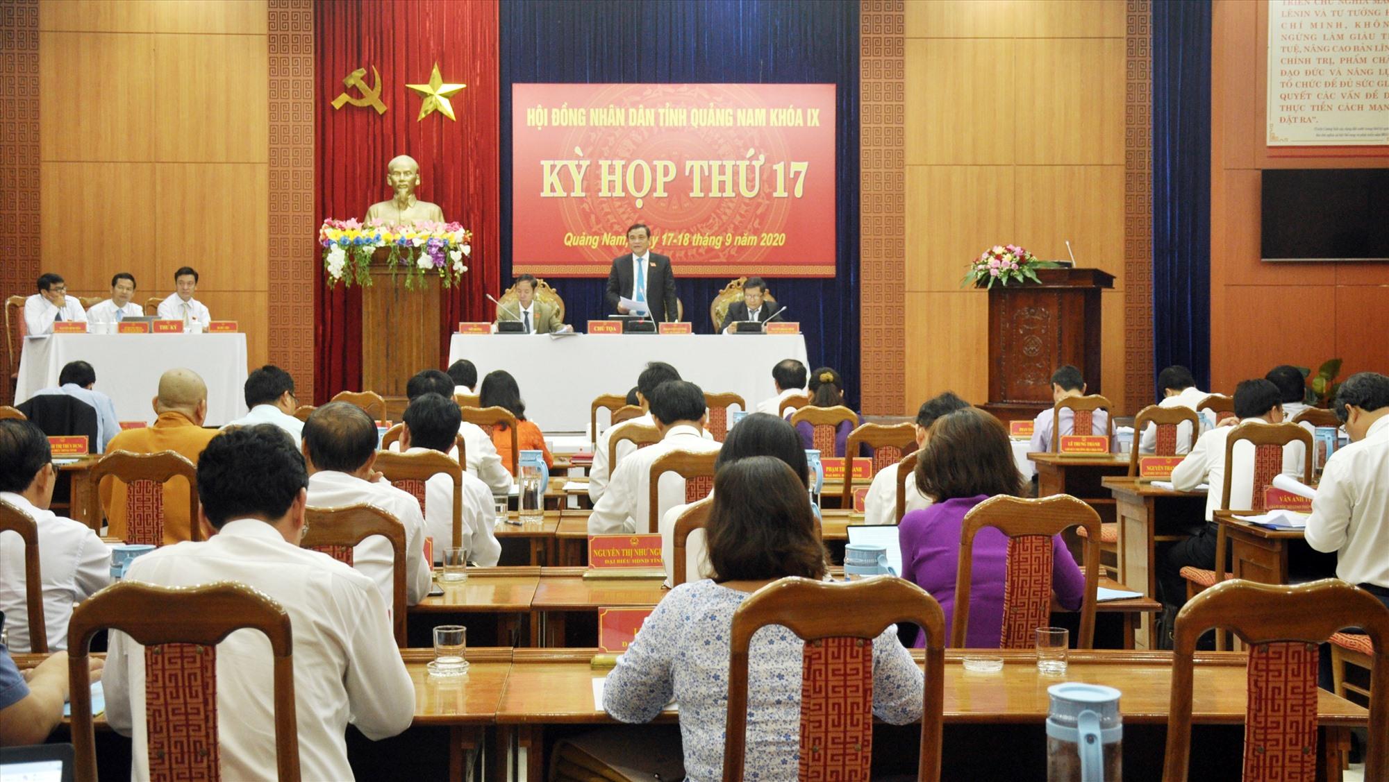 Quang cảnh Kỳ họp thứ 17, HĐND tỉnh khóa IX. Ảnh: N.Đ