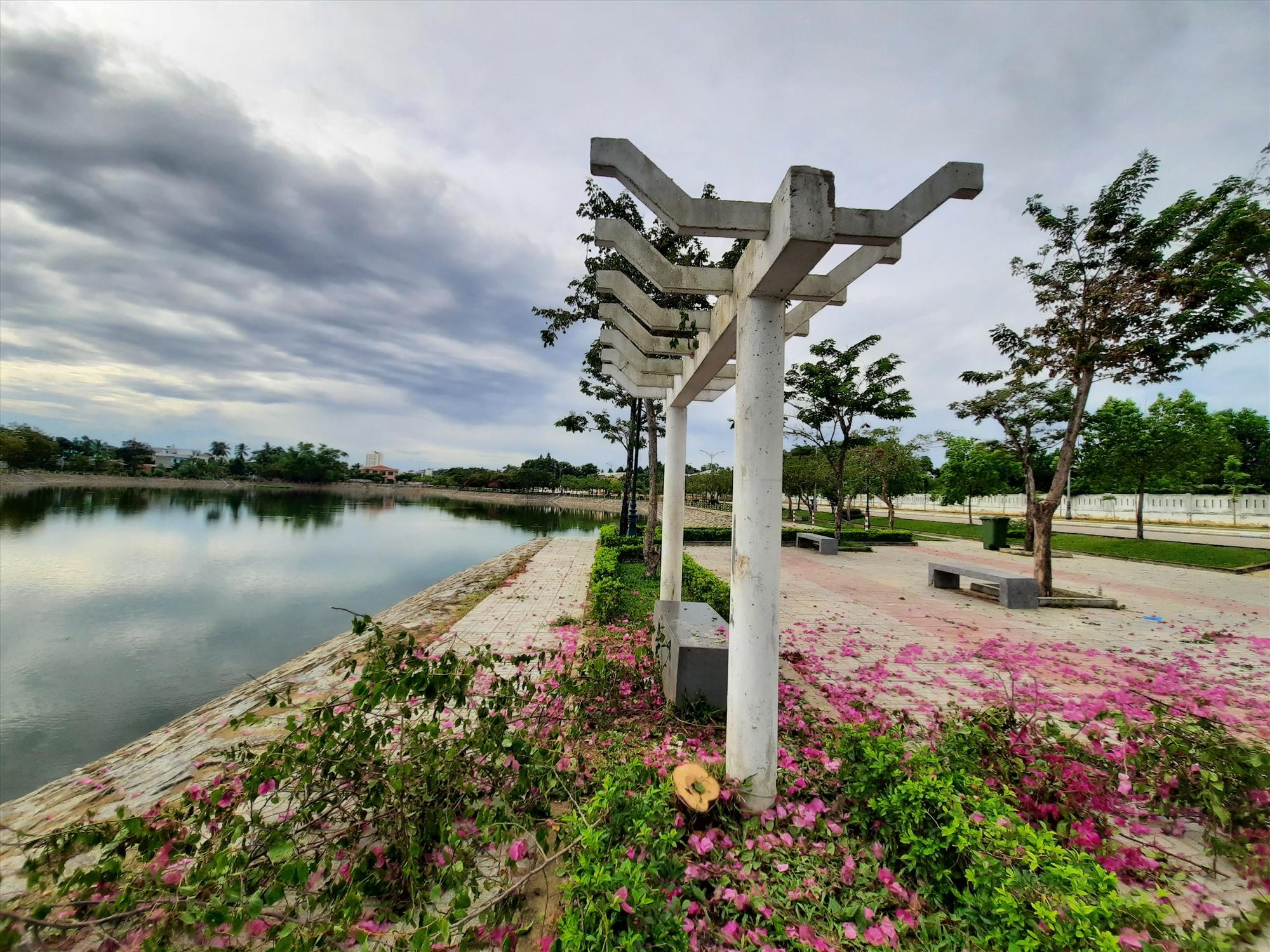 Khu vực xảy ra vụ cưa trộm cây là Công viên Nguyễn Du.Ảnh: Đ.ĐẠO