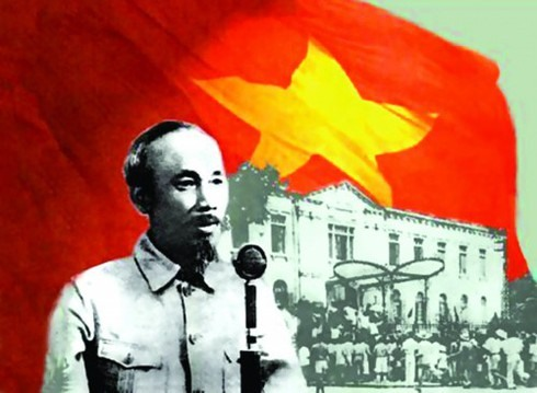 President Ho Chi Minh read the Declaration of Independence in Hanoi on September 2, 1945, proclaiming the birth of the Democratic Republic of Vietnam (now the Socialist Republic of Vietnam). (Infographics: Quang Huy). Photo: VOV