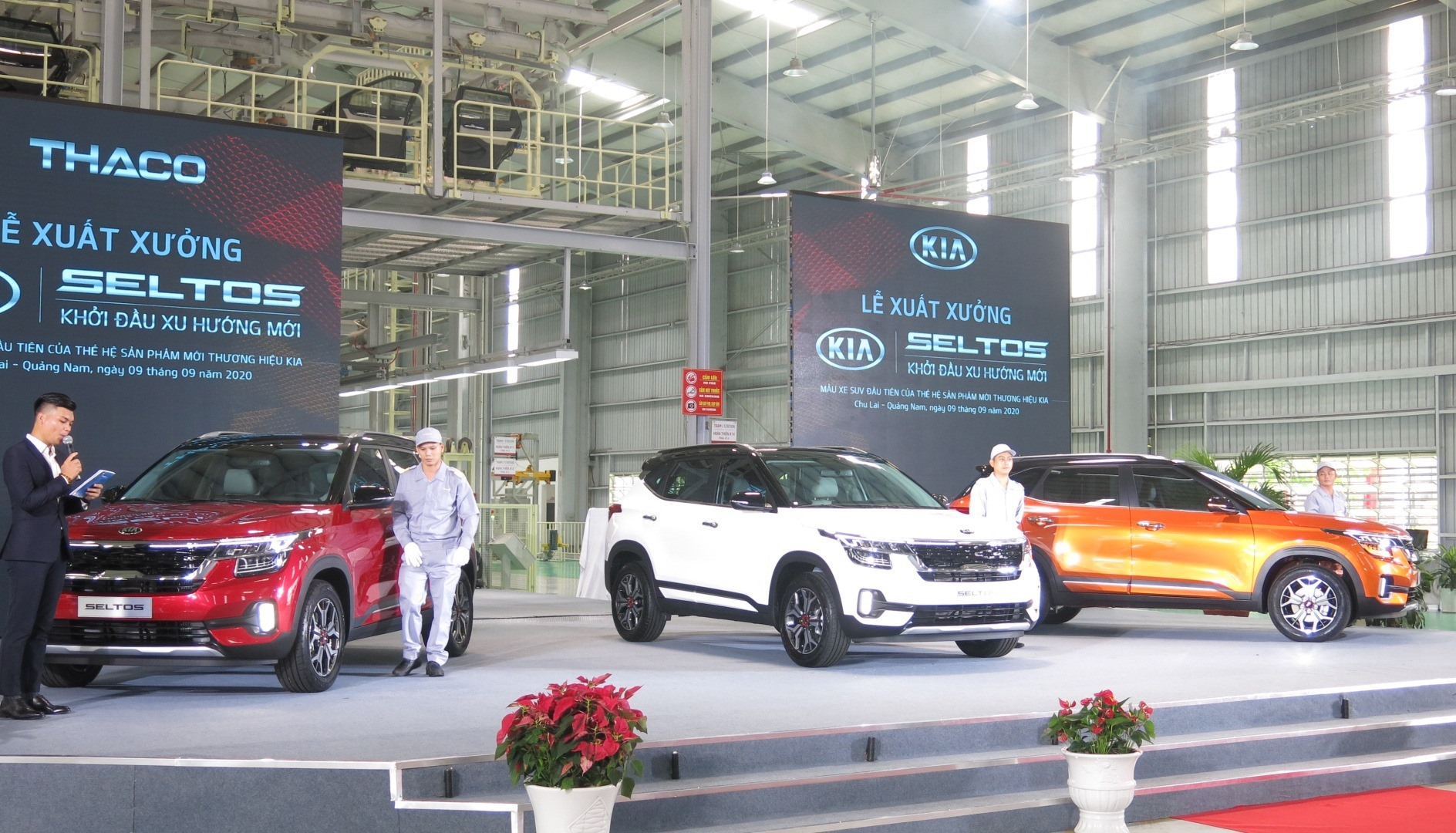 Thaco rolled out Kia Seltos passenger cars in September, 2020