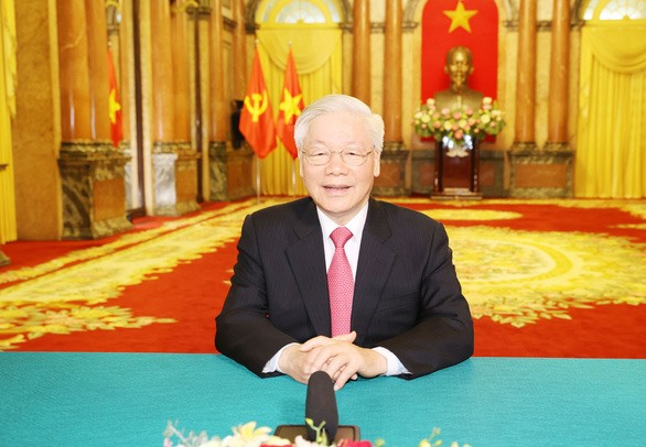 Party General Secretary and State President Nguyen Phu Trong in the video message to the High-level General Debate of the 75th session of the UN General Assembly (Photo: VNA)