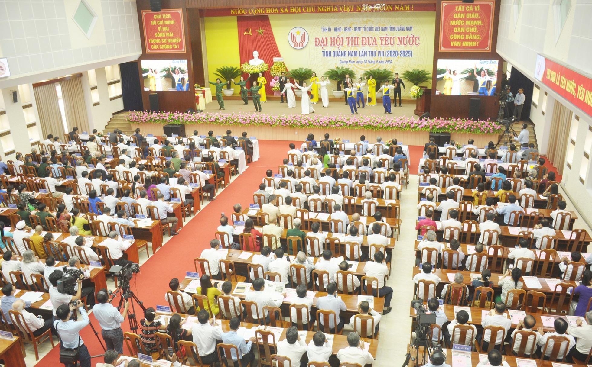 Quang cảnh Đại hội Thi đua yêu nước tỉnh Quảng Nam lần thứ VIII (2020 - 2025). Ảnh: N.Đ