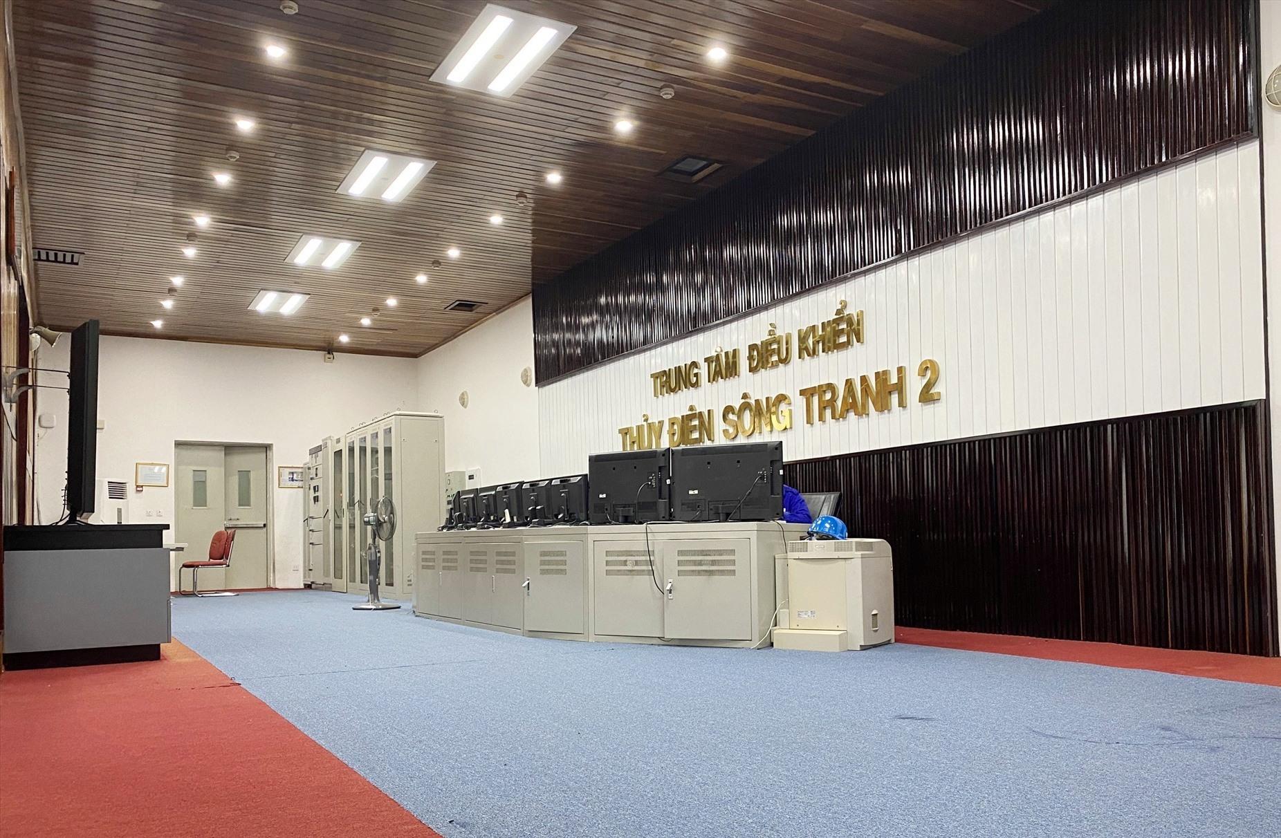 Trung tâm điều khiển nhà máy thủy điện Sông Tranh 2