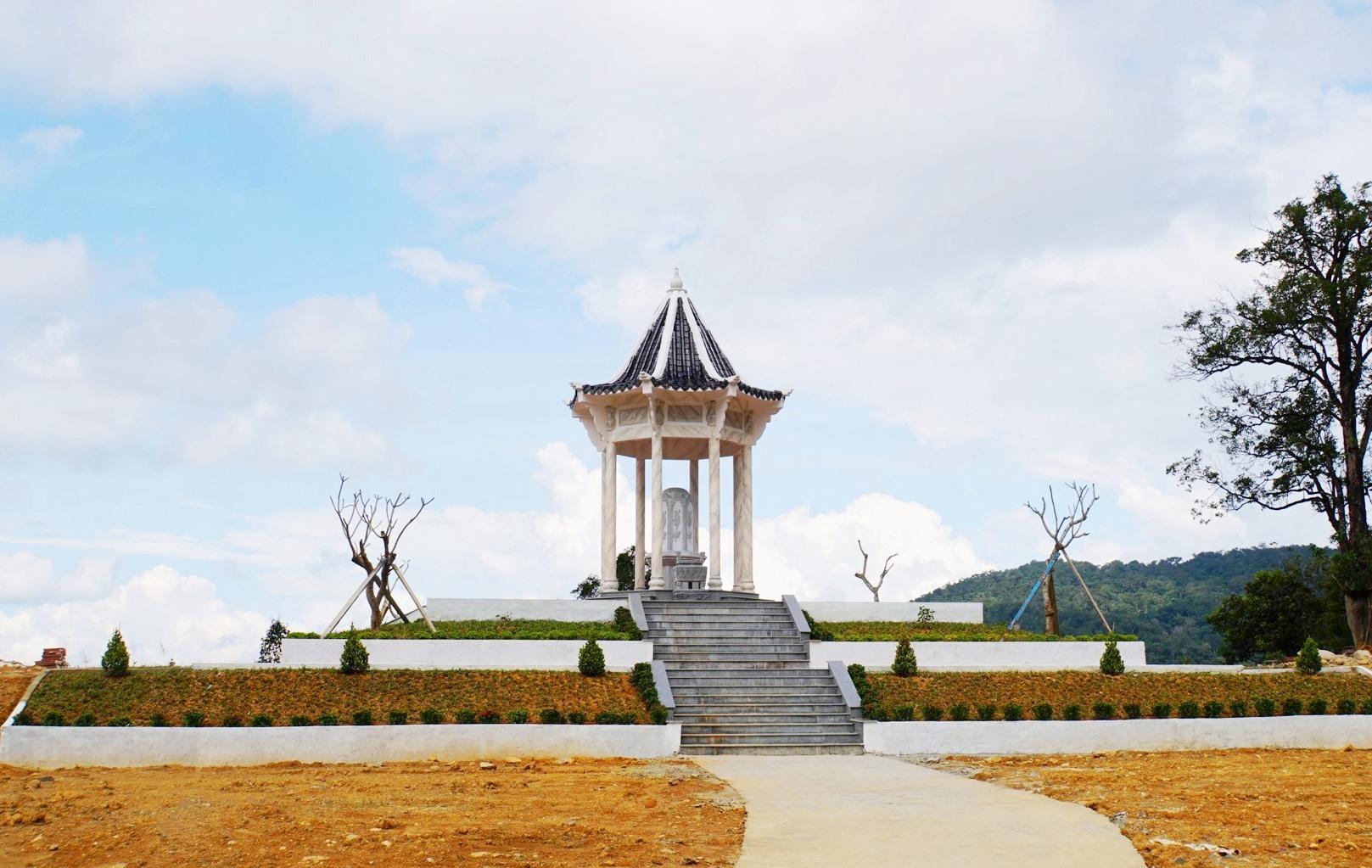 Miếu thờ thần sâm tại xã Trà Linh.Anh: H.A