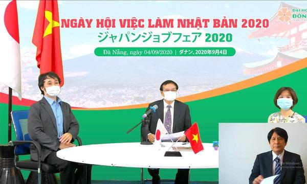 Ngày hội việc làm Nhật Bản 2020 tại Trường Đại học Đông Á được tổ chức trực tuyến ngày 4.9 với nhiều điểm cầu được kết nối. Ảnh: Văn Sanh
