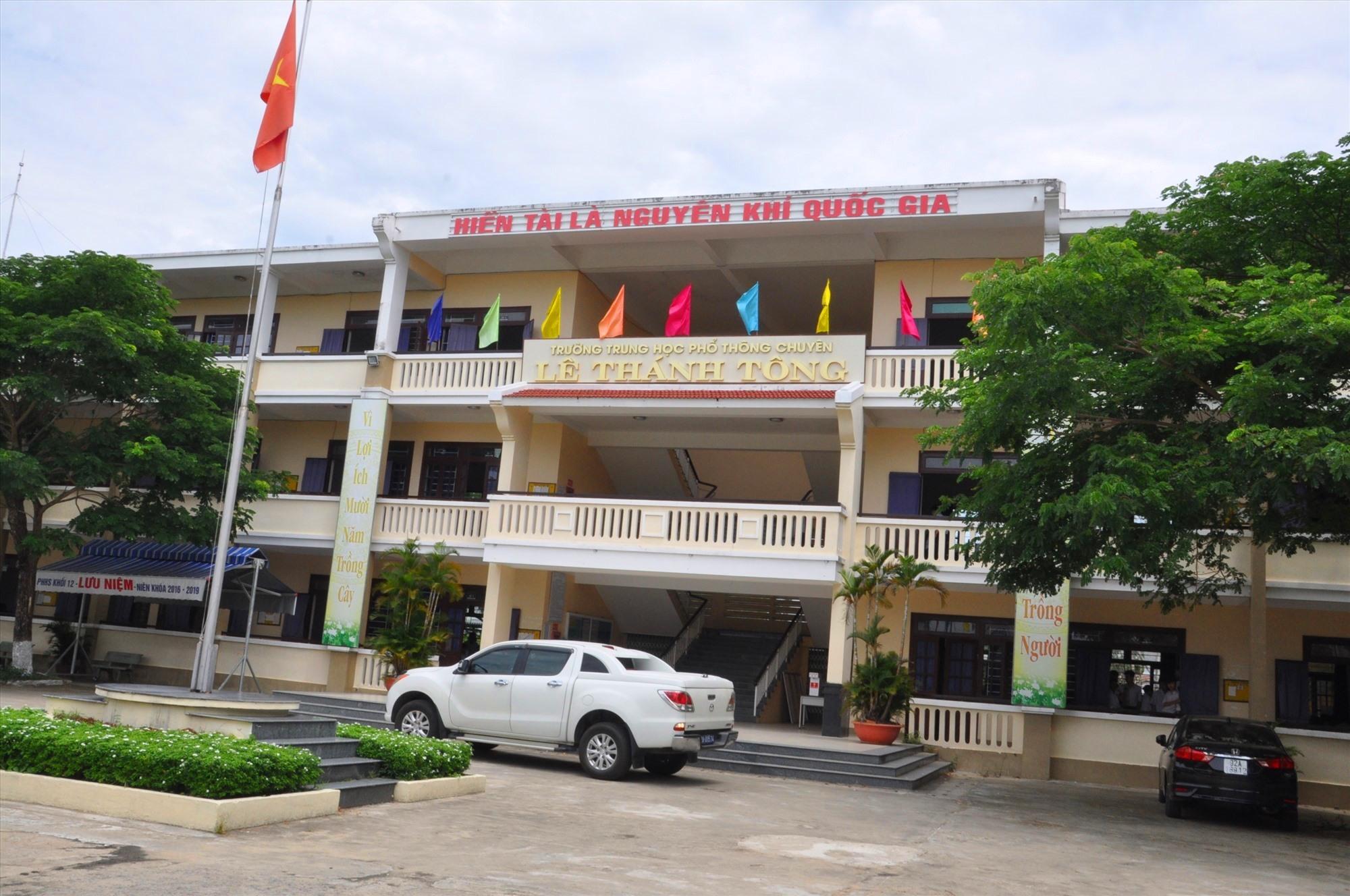 Trường THPT chuyên Lê Thánh Tông ra đời tạo điều kiện cho học sinh các địa phương phía bắc của tỉnh theo học. Ảnh: X.P
