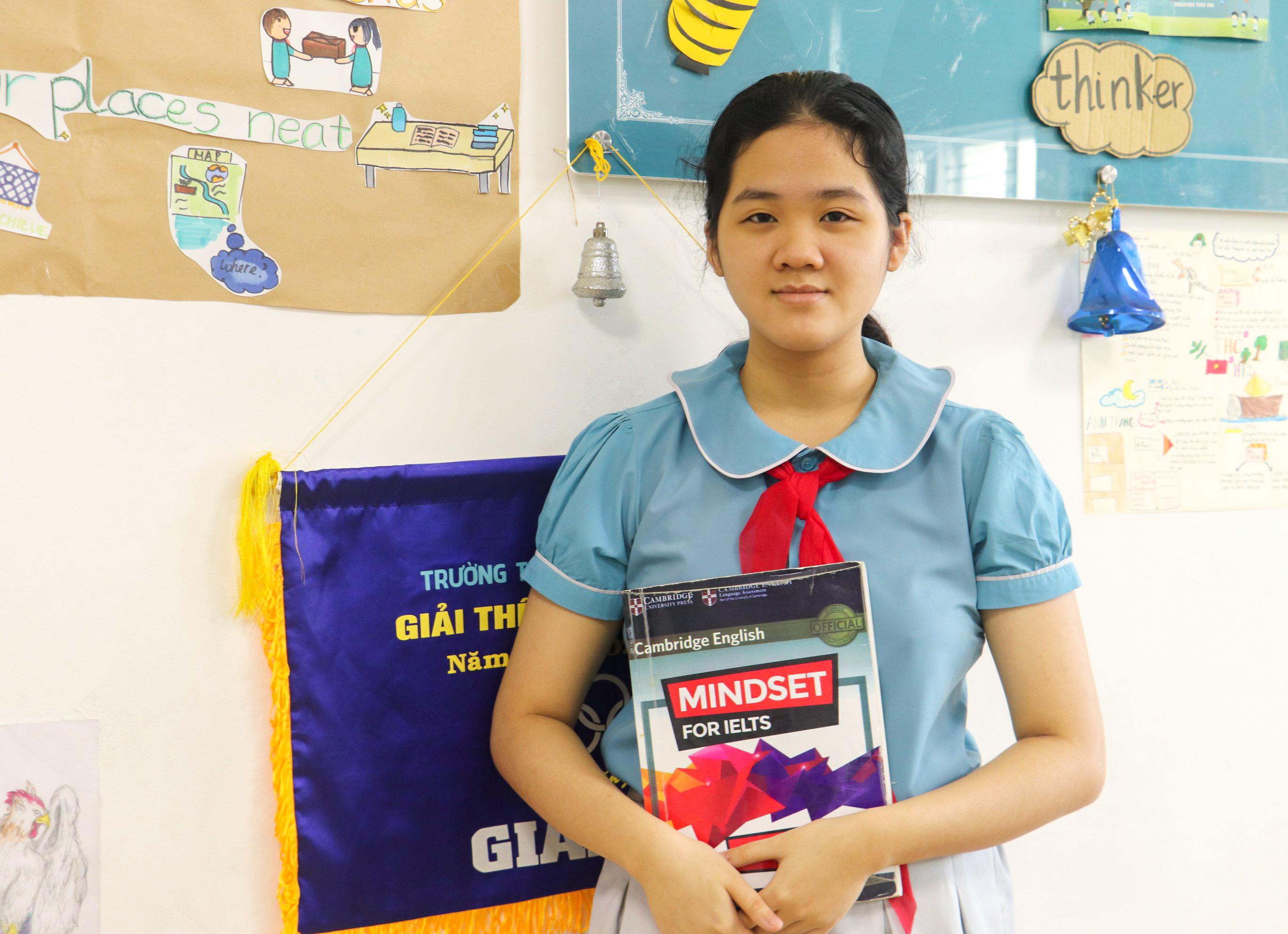Trịnh Ngọc Minh Thư, học sinh lớp 9 ED Trường Tiểu học-THCS & THPT Sky-Line. Ảnh Xuân Lan